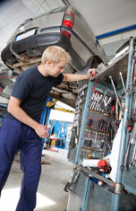 Mechanic Working on Car Servicing In Bedfordshire